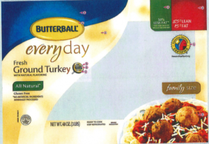 CDC recalls ground butterball turkey